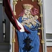 Latvia, Riga, Virgin Mary And Jesus Poster