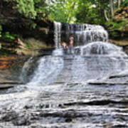 Laughing Whitefish Waterfall In Michigan Poster