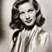 Lauren Bacall, Vintage Actress Poster