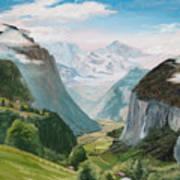 Lauterbrunnen Valley Switzerland Poster