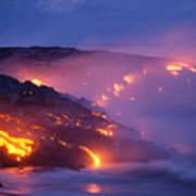 Lava At Twilight Poster