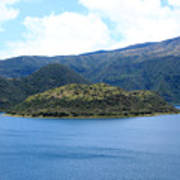 Lava Dome Island In Lake Cuicocha Poster