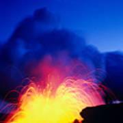 Lava Explodes Poster