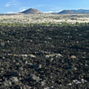 Lava Flow And Schonchin Butte, Lava Beds Nm, California, Usa Poster