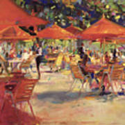 Le Cafe Du Jardin  Poster by Peter Graham
