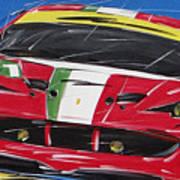Le Mans Ferrari 458 Poster