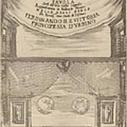Le Nozze Degli Dei: Frontispiece Poster