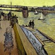 Le Pont De Trinquetaille In Arles Poster by Vincent Van Gogh