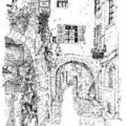 Le Pontis Saint-paul De Vence France Poster