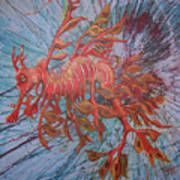 Leafy Sea Dragon Poster by Lawry Love