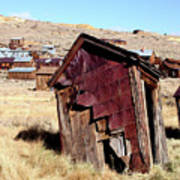 Leaning Bodie Outhouse Poster