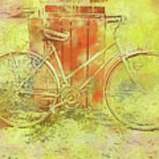 Leaning In Bicycle Poster