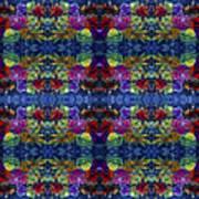 Leaves Batik Tiled Poster