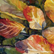 Leaves On A Pond Poster