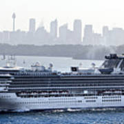 Diamond Princess Leaving Sydney Poster