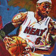 Lebron James 3 Poster by Maria Arango