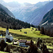 Lech Valley Village Poster
