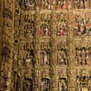 Left Half - The Golden Retablo Mayor - Cathedral Of Seville - Seville Spain Poster