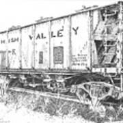 Lehigh Valley Coal Car Poster