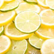 Lemons And Limes Abstract Poster