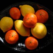 Lemons And Oranges On A Platter Poster