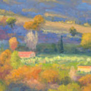 Lengthening Shadows - Tuscany Poster