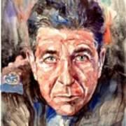 Leonard Cohen Painting Poster