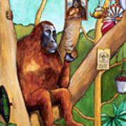 Leonardo The Orangutan Poster