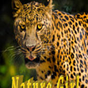 Leopard Nature Girl Poster