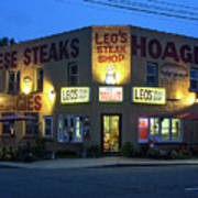 Leo's Steak Shop Poster