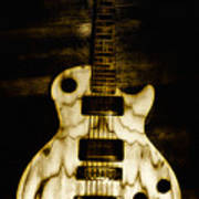 Les Paul Guitar Poster by Bill Cannon