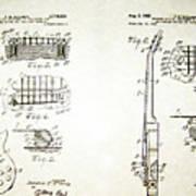 Les Paul Guitar Patent 1955 Poster