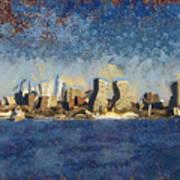 Less Wacky Philly Skyline Poster