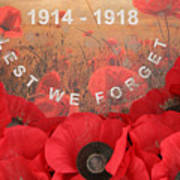 Lest We Forget - 1914-1918 Poster