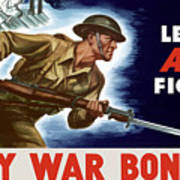 Let's All Fight Buy War Bonds Poster