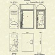 Letter Box 1887 Patent Art Poster