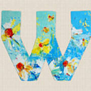 Letter W Alphabet A Floral Expression Poster