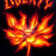 Lotus Of Wisdom. Liberty Fire Poster