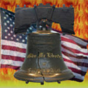 Liberty On Fire Poster
