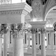 Library Of Congress 2 Black And White Poster