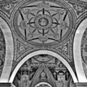 Library Of Congress Arches And Murals Poster