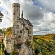 Lichtenstein Castle Poster by Ryan Wyckoff