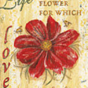 Life Is The Flower Poster by Debbie DeWitt