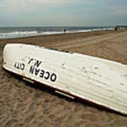 Lifeguard Boat Ocean City, Nj Poster