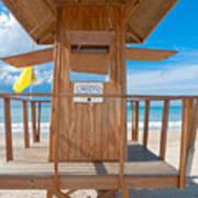 Lifeguard Hut On The Beach Poster