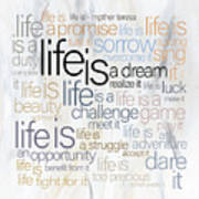 Mother Teresa Life Is Poster