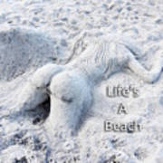 Life's A Beach By Sharon Cummings Poster