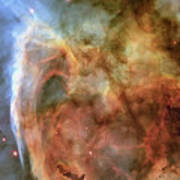 Light And Shadow In The Carina Nebula Poster