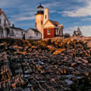 Light At Pemaquid Point Poster