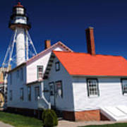 Light At Whitefish Point Poster